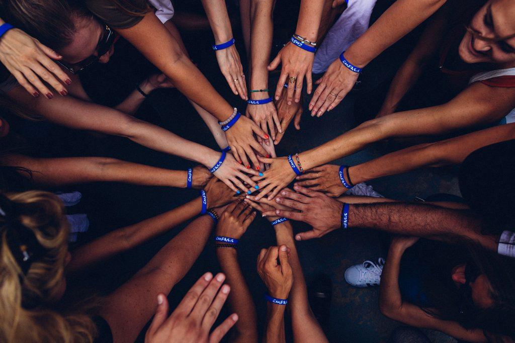 team hands